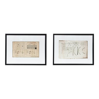 Architectural Drawings - a Pair