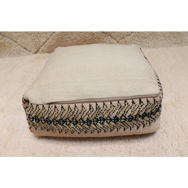 Moroccan Rug Pillow Pouf Cover (Unstuffed) For Sale - Image 6 of 10