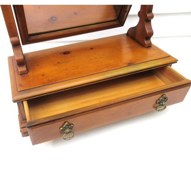 Vintage Men's Wood Shaving Stand & Valet For Sale - Image 7 of 9