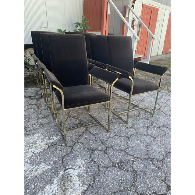 Cal-Style Milo Baughman Style Dining Chairs- Set of 8 For Sale - Image 4 of 10