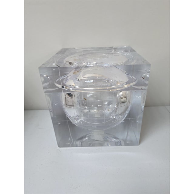 Aero Studios Ice Bucket With Globe Detail For Sale In Los Angeles - Image 6 of 6
