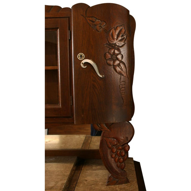 1920 French Art Deco Carved Grapes Buffet - Image 8 of 8