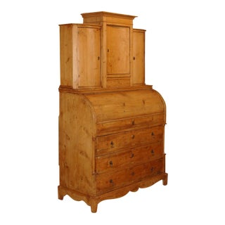 Early 19th Century Pine Biedermeier Secretary For Sale