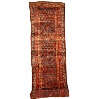 Handmade Antique Persian Kurdish Runner - 3.6' X 17.8' For Sale