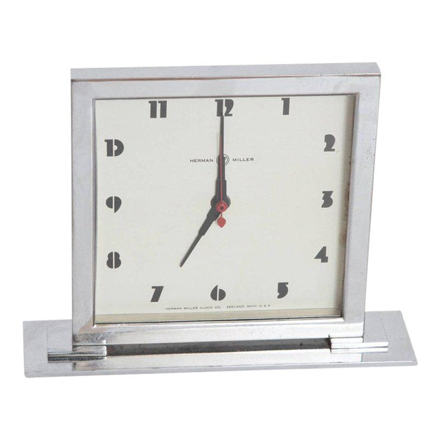 Machine Age Art Deco Gilbert Rohde for Herman Miller Original Working Clock For Sale