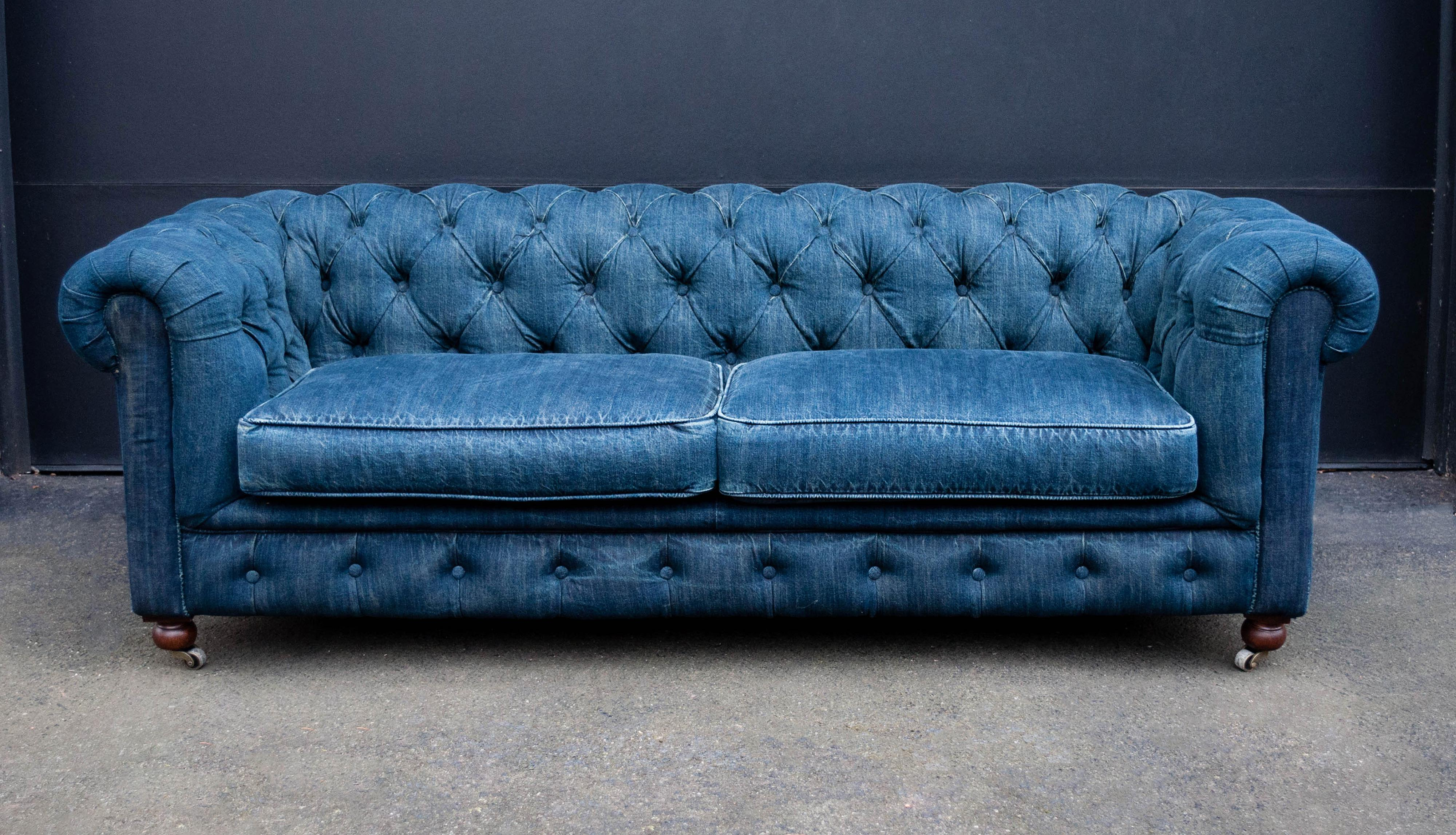 Mini Chesterfield Sofa By Restoration Hardware   Image 2 Of 11