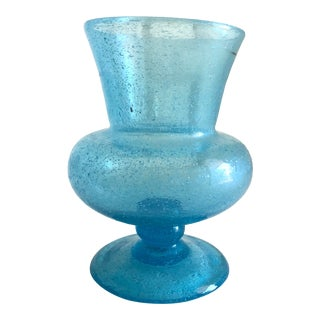 Blue Glass Vase For Sale