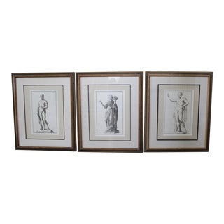 Classical Roman Statues Engravings - Set of 3 For Sale