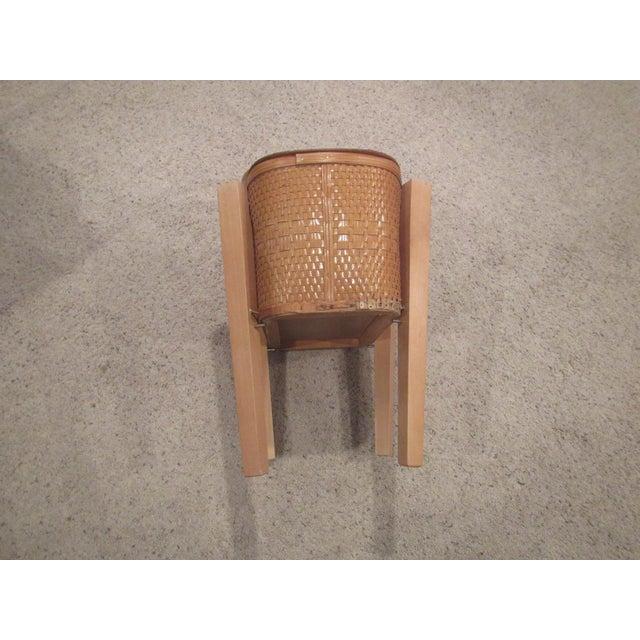 Vintage Picnic Basket Side Table - Image 9 of 11