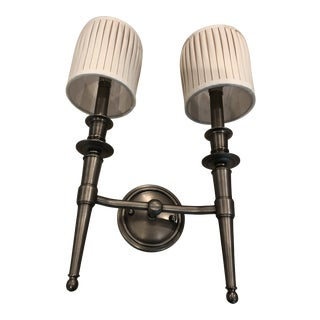 Hudson Valley - Abington 4902an Double Lamp Sconce With Shade For Sale