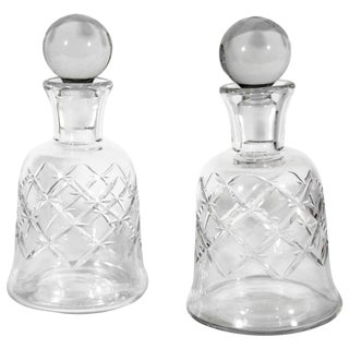 Pair of Baccarat Decanters For Sale