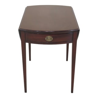 Vintage Kittinger Wa-1006 Federal Mahogany Pembroke Table For Sale