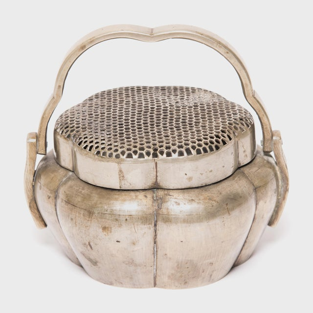 Asian 19th Century Chinese Brass Gourd Form Brazier For Sale - Image 3 of 6