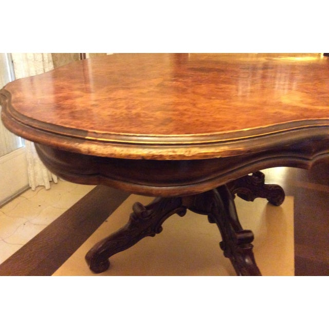 French Marquette Wood Violon Coffee Table For Sale - Image 9 of 11