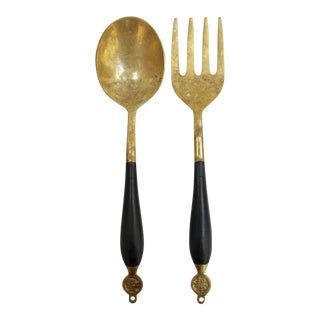 Asian-style Salad Serving Set, 2 Pieces For Sale