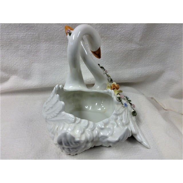 Traditional Capodimonte Entwined Swans - A Pair For Sale - Image 3 of 8