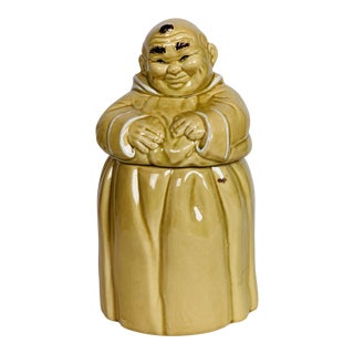"Vintage Twin Winton Monk ""Thou Shall Not Steal"" Cookie Jar For Sale"