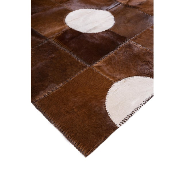 "Aydin Cowhide Patchwork Accent Area Rug - 5'1"" x 7'7"" For Sale - Image 5 of 6"