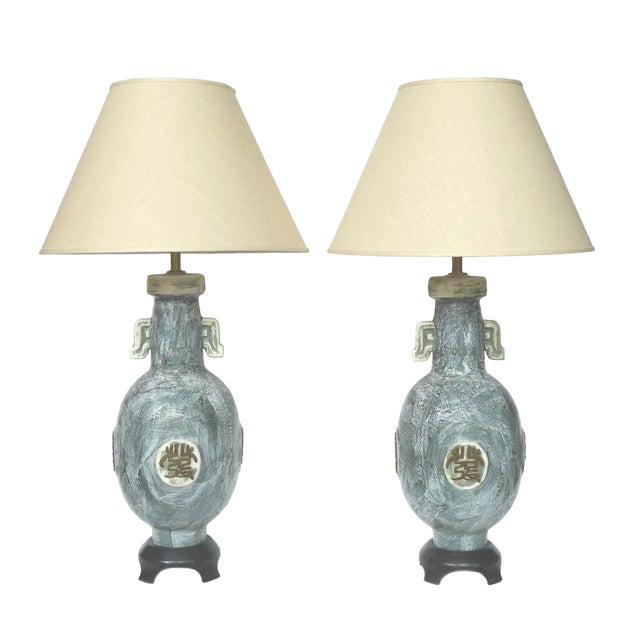 Marbro 1970s Ceramic Table Lamps - A Pair - Image 1 of 10