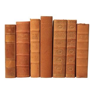 Danish Leather-Bound Books - Set of 7
