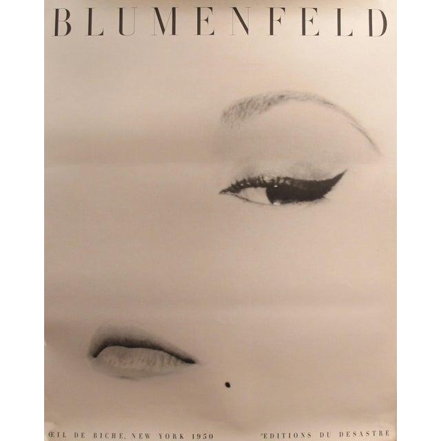 1980s 1980s Erwin Blumenfeld Exhibition Poster, Doe Eye (Oeil De Biche) For Sale - Image 5 of 5