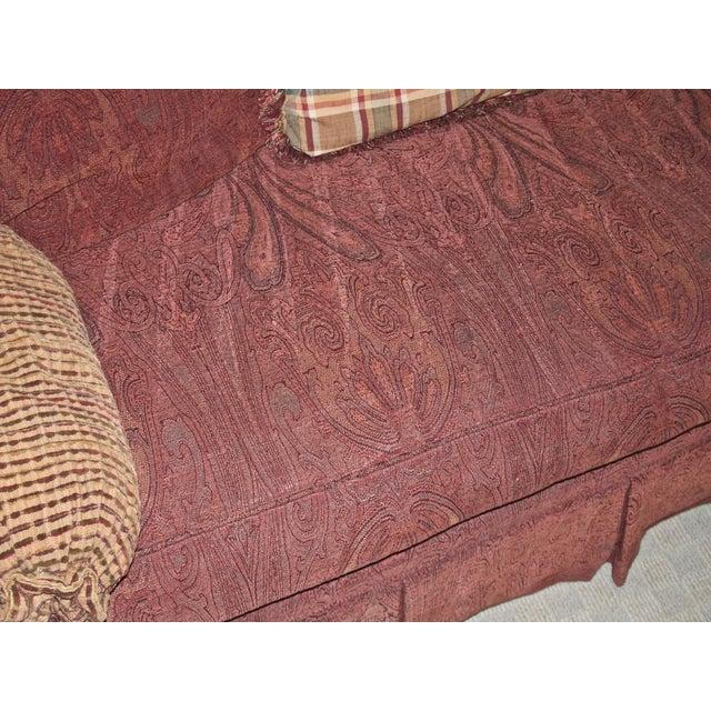 Fabric Lane Raymond Waites Custom Bolster Sofa For Sale - Image 7 of 13
