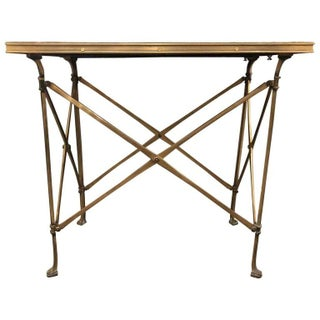 20th Century Campaign Style Side Table With Mirrored Top Preview