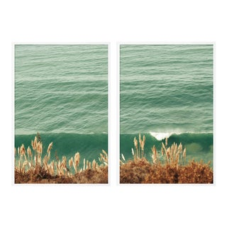 Pampas Diptych by Christine Flynn in White Framed Paper, XL Art Print - A Pair For Sale