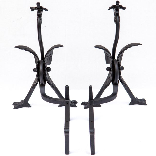 Pair of Bradley & Hubbard Phoenix Andirons, 1896 For Sale In Chicago - Image 6 of 12