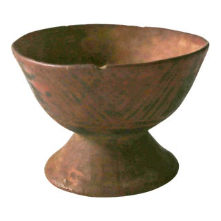Pre-Colombian Narino Pedestal Bowl For Sale