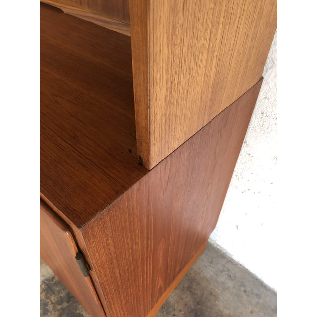 Vintage Mid Century Danish Modern Filing Cabinet With Hutch by Poul Hundevand For Sale - Image 10 of 13