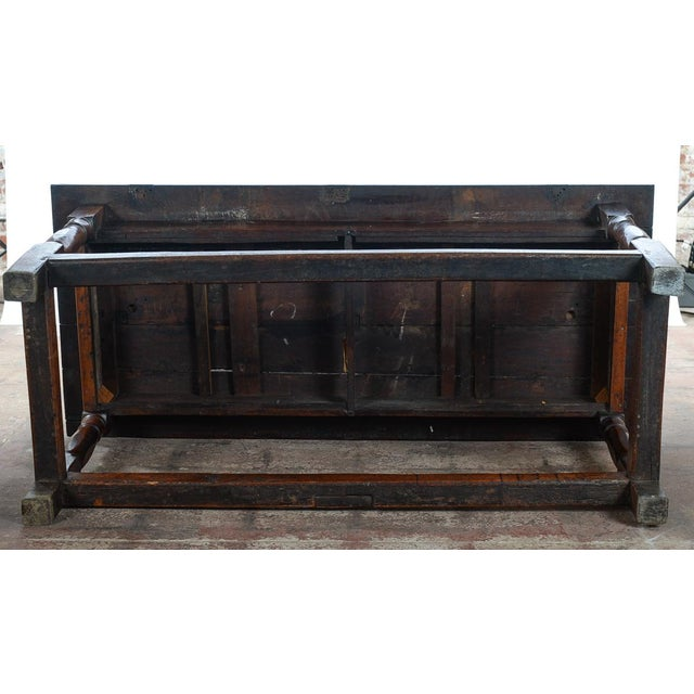 Brown 18th C. Antique English Farmhouse Table For Sale - Image 8 of 8