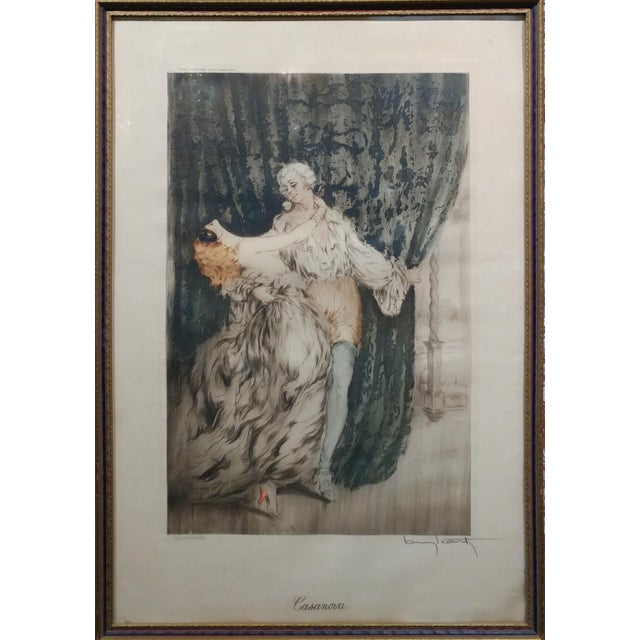 Louis Icart -Casanova - Original 1920s Lithograph -Pencil Signed - Image 2 of 11