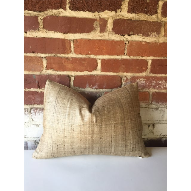 Handwoven Raw Silk Pillow Cover - Image 2 of 5