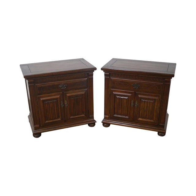 Ethan Allen Royal Charter Oak Nightstands Chests - A Pair - Image 1 of 10