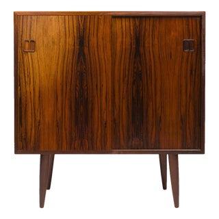 Vintage Danish Mid-Century Rosewood Two-Door Media Cabinet For Sale