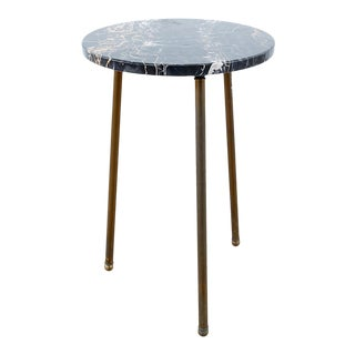 Mid-Century Round Granite Tripod Drinks Table For Sale