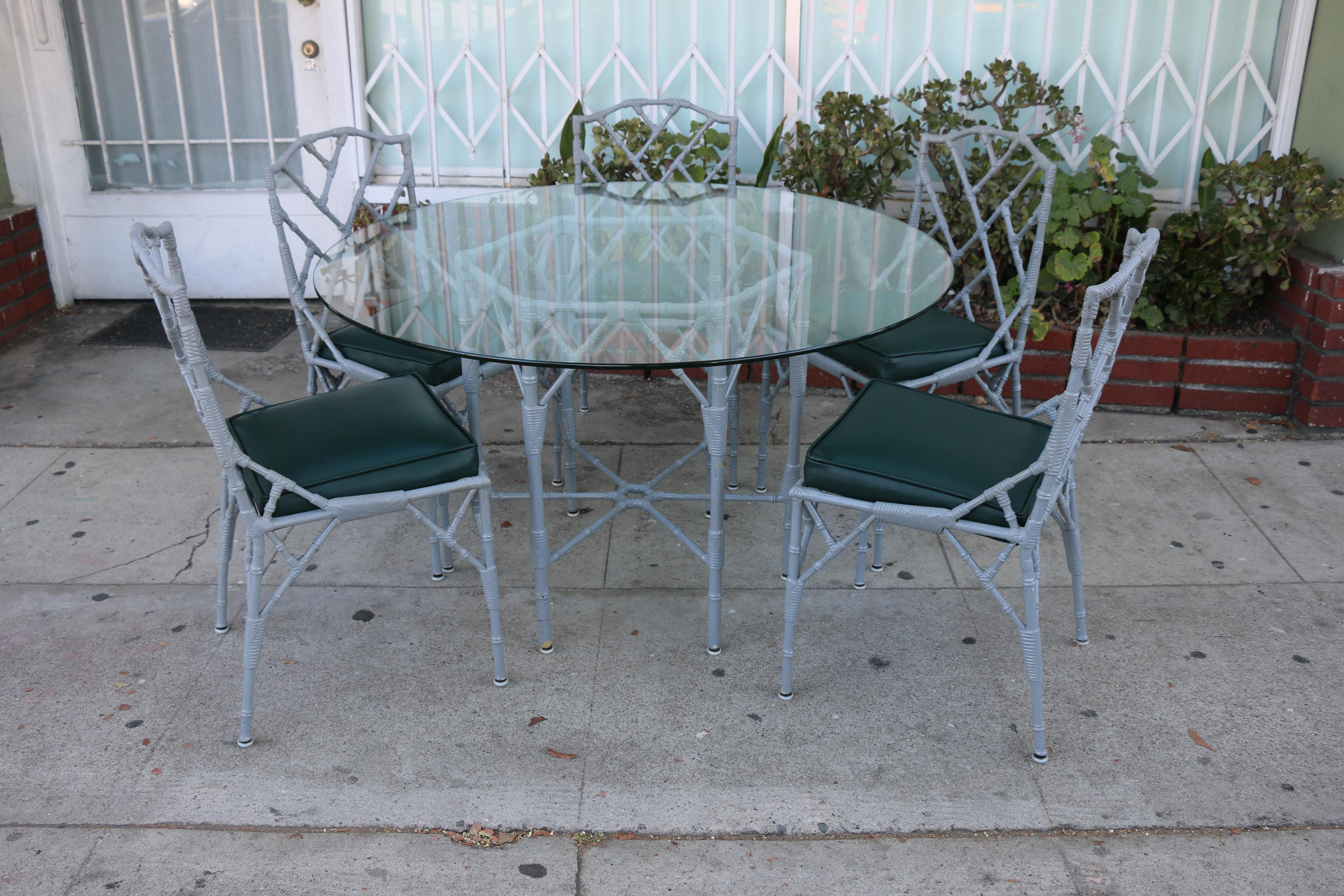 1980s Venemen Outdoor Cast Iron Patio Set For Sale   Image 5 Of 13