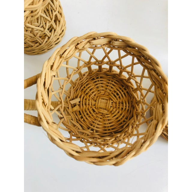 Late 20th Century Vintage Wicker Drink Cozies - Set of 4 For Sale - Image 5 of 6