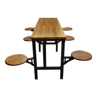 Six Swing Seat Industrial Flooring Table