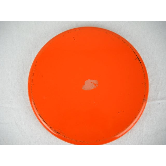 Op Art Yellow Orange Serving Tray For Sale - Image 5 of 9