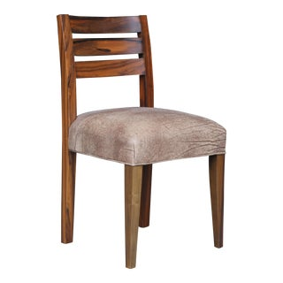 Contemporary Costantini Renzo Argentine Rosewood & Leather Side Chair For Sale