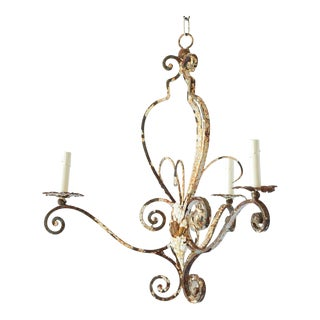 Rusty French Chandelier For Sale