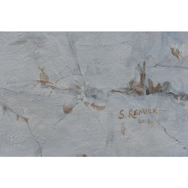 """Contemporary Snowscape Painting, """"Snowy Hillside"""", by Stephen Remick For Sale In Providence - Image 6 of 13"""