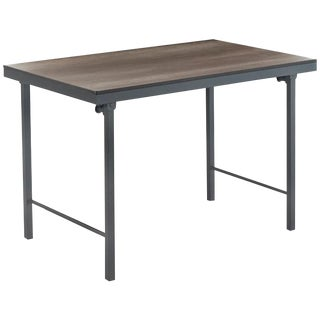 New Folding Table With Wood Top and Iron Structure For Sale