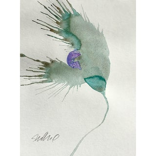 'Lavender Wind' Botanical Painting For Sale