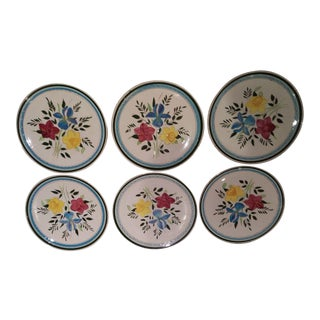 Stangl Country Garden Art Pottery Dinner Plates - Set of 6