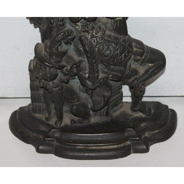 """Late 19th Century Bronze """"Punch"""" Door Stop - Image 4 of 7"""