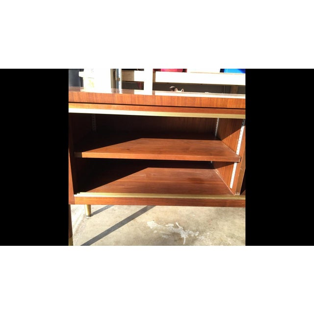 1960s Mid Century Modern Buffet Credenza Storage Table For Sale - Image 4 of 11