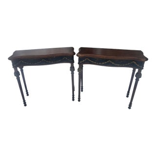 1990s Uttermost Console Tables - a Pair For Sale